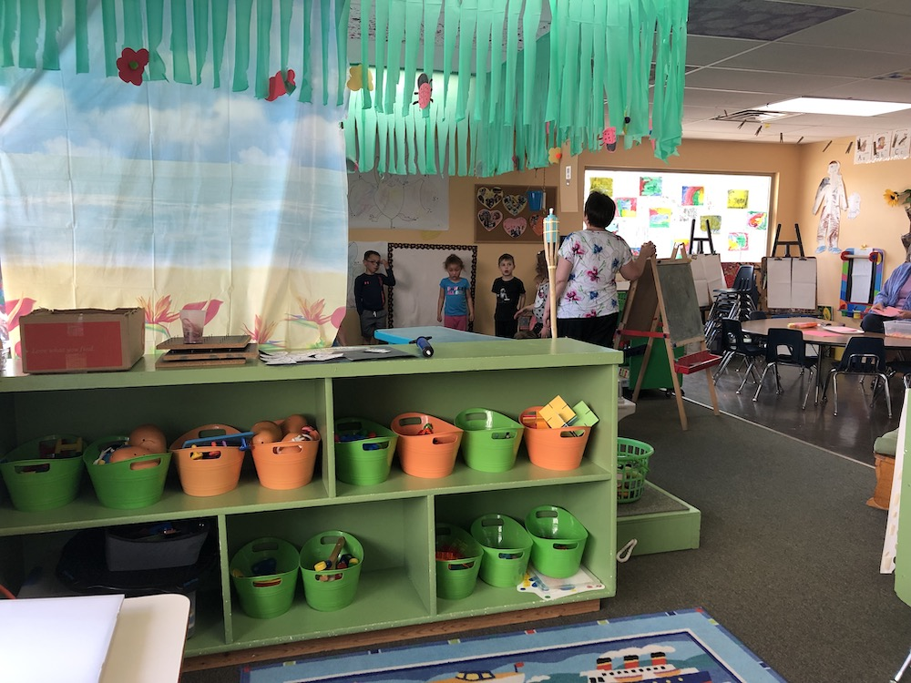 Interior photo of a classroom at Discovery Trails Early Learning Academy building.